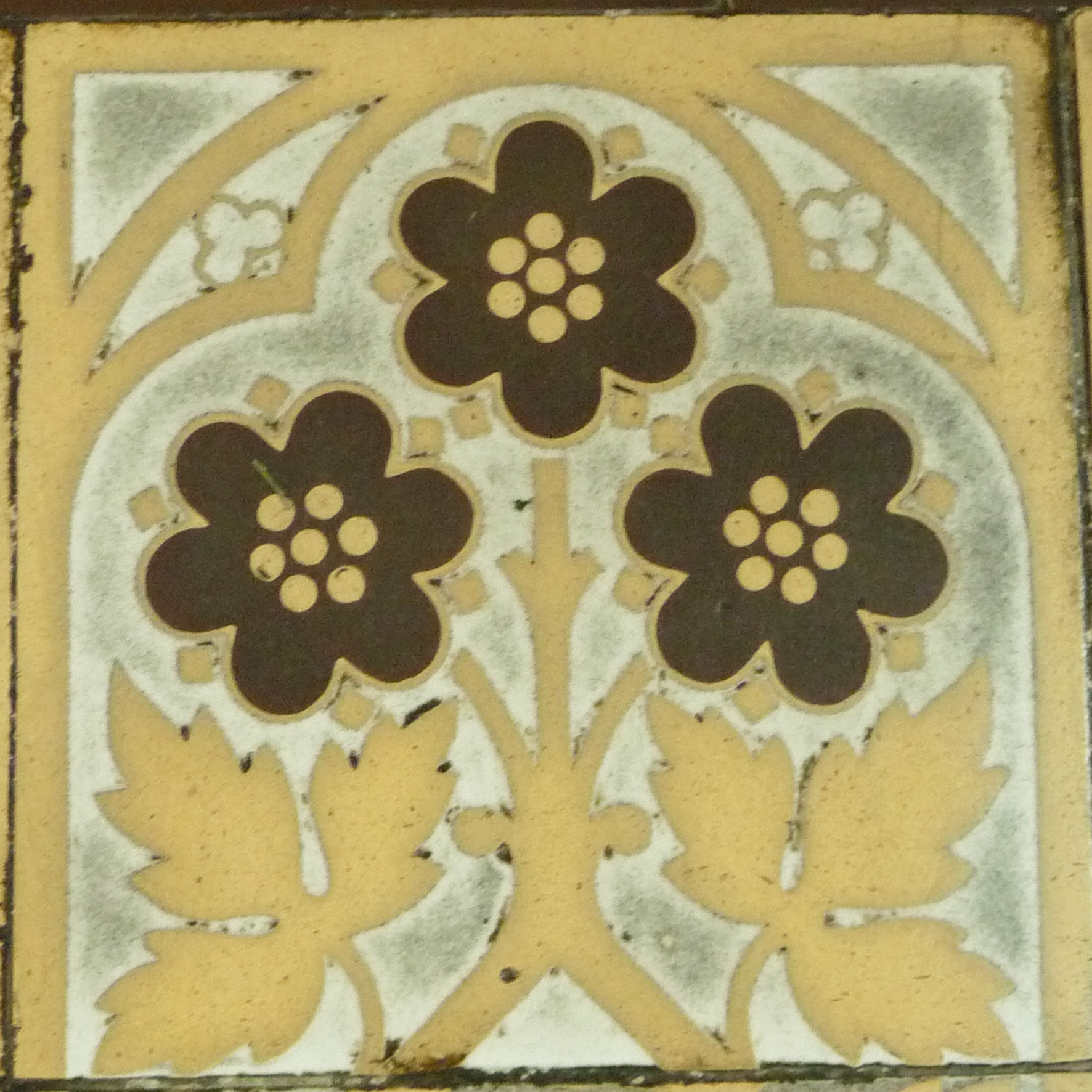 Encaustic tiles designed by Pugin in St Mary's Convent, Handsworth.