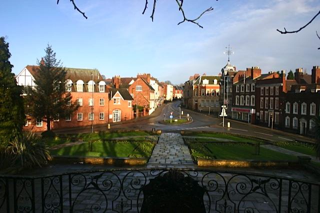 Sutton Coldfield's historic high street.