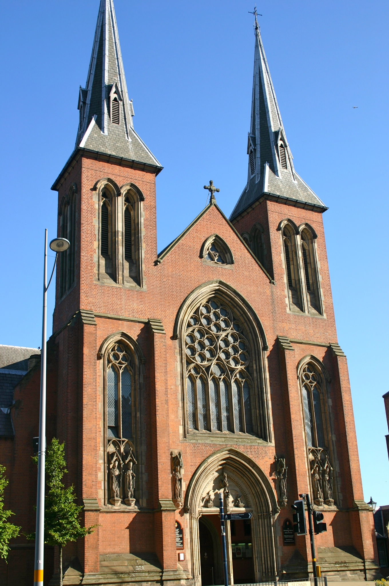 Saint Chad's Cathedral by Augustus Pugin, joint architect of the Palace of Westminster, was spared by the City Council.